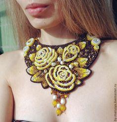 """Колье """"Sunny Roses"""". Handmade."""