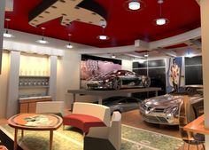 luxury garage interiors | Luxury Garages | Logan Design Group | Dallas & Atlanta Architect