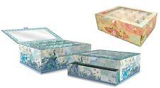 Punch Studio Boudoir Collection Window Jewelry Boxes Peacock 40813 OR Rose 40807