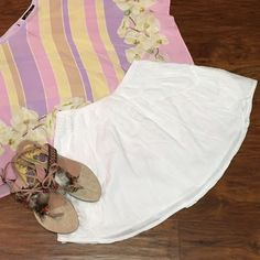 BOHO GAUZE COTTON SKIRT Sweet little mini with open pockets and elastic waist and a flowy cool, cotton material.. Perfect to wear out or slip on as a coverup at the beach, lake or pool Skirts