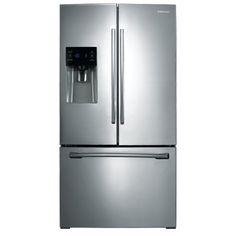 Samsung 25 6 Cu Ft French Door Refrigerator With Single Ice Maker Stainless Steel