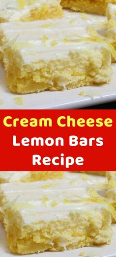 Cream Cheese Lemon Bars Recipe believe me, Nothing brings a recipe to life like fresh lemons! For a change of pace from the standard Southern-style lemon bars, you need to look no further! This recipe is easy Cream Cheese Lemon Bars Recipe Lemon Cream Cheese Bars, Low Fat Cream Cheese, Cream Cheese Recipes, Cream Cheeses, Easy Cream Cheese Desserts, Deserts With Cream Cheese, Chewy Brownies, Lemon Brownies, Lemon Dessert Recipes