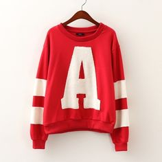 Autumn abc loose long-sleeved red fleece sweater sister sweaters three colors