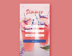 """Check out new work on my @Behance portfolio: """"Sign up UI"""" http://be.net/gallery/35224043/Sign-up-UI"""