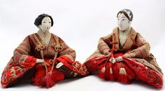 2x antique 19th.C Hina Ningyo Japanese Doll, Imperial Pair, Gofun, Glass eyes in Antiques, Asian Antiques, Japan, Dolls | eBay