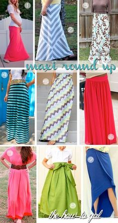 The How-To Gal: Fabric Stash: Easy Maxi Skirt plus go down to the bottom of the page for all these patterns.
