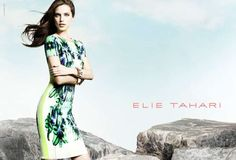 Model Emily DiDonato is tapped to feature for the Elie Tahari Spring/Summer 2013 campaign, lensed by fashion photographer Diego Uchitel. Emily Didonato, Tropical Fashion, Colorful Fashion, Elie Tahari, Moda Tropical, Campaign Fashion, Elegant Woman, Fashion Pictures, Frocks