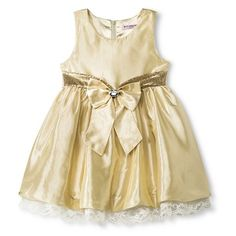 Gorgeous golden dress for childhood cancer awareness