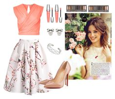 """""""look pink and flowers"""" by nandamargu on Polyvore"""