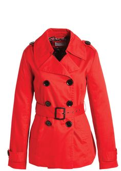 Red Belted Trench Coat. delias.com