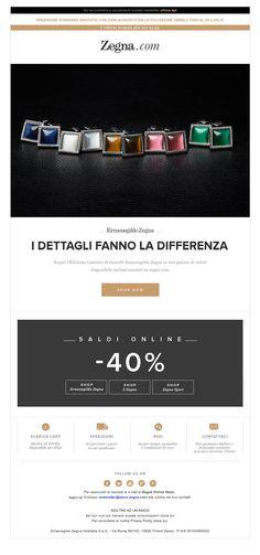 #newsletter Zegna 07.2013 Email Newsletter Design, Email Design, Footer Design, Ux Design, Email Footer, Computer Love, Lookbook Layout, E-mail Marketing, Interactive Design