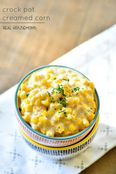 Crock Pot Creamed Corn is so easy to make up and tastes so good you'll be making it all the time!