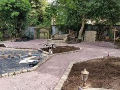 Garden Design & Build #landscaping #gardendesign #reclaimedstone #pathedging #raisedbed #stoneraisedbed #flowerbeds #plantingbeds #gardendesigncheshire