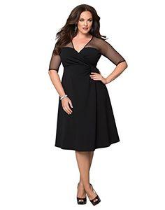 Kiyonna Women's Plus Size Sugar and Spice Dress 2X Onyx K... http://smile.amazon.com/dp/B00OZHFTDW/ref=cm_sw_r_pi_dp_pe4ixb1AJCD14