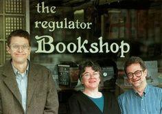 Tom Campbell, the late Helen Whiting, & John Valentine, The Regulator Bookshop in Durham, NC