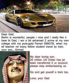 Rich arab joke