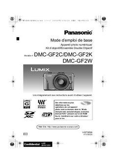 Manuel PANASONIC Lumix GF2 et notice Lumix GF2 Point And Shoot Camera, Flashcard