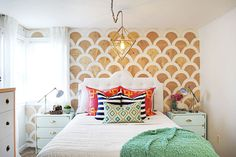 How to DIY a Scalloped Wall - GoodHousekeeping.com Make cutouts take with you to assemble at new apartment!