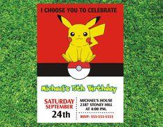 Pokemon Pikachu Invitation Pokemon Invitation Pokemon by digiangie