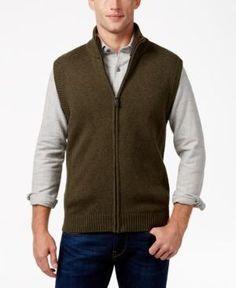 Tricots St Raphael Men's Faux Sherpa Lined Vest -
