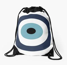 Evil eye drawstring bag