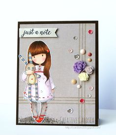 Hush Little Bunny, (this line design or similar would make a nice scored background. Small Cards, Cards For Friends, Copics, Crafty Craft, Kids Cards, Cute Cards, Homemade Cards, Paper Dolls, Cardmaking