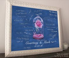 So cute! Be our guest Beauty and the Beast guestbook! Perfect for an elegant Disney Wedding <3