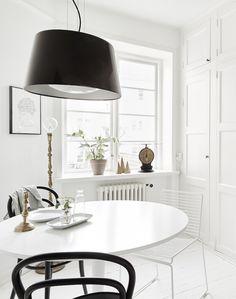 wit thema voor een Zweeds appartement