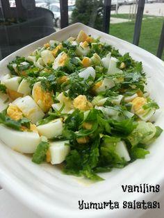 Eiersalat mit Petersilie - - Pratik Hızlı ve Kolay Yemek Tarifleri Salad Menu, Salad Dishes, Egg Salad, Easy Salad Recipes, Easy Salads, Healthy Recipes, Easy Meals, Salat Al Fajr, Crab Stuffed Avocado