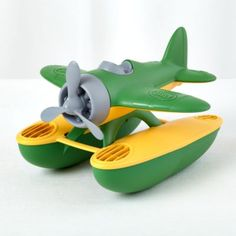 $19.95 Seaplane  | The Land of Nod Green Toys, Land Of Nod, Water Toys, Preschool Toys, All Toys, Toys For Girls, Kids Toys, Toy Trucks, Children's Place