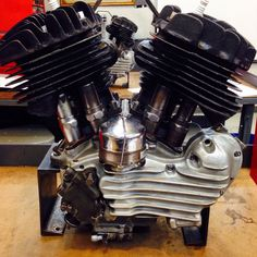 "45"" side valve Harley-Davidson engine"