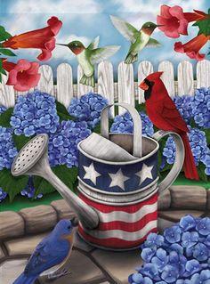 memorial day garden flag