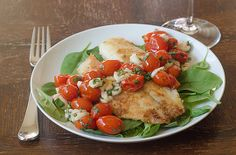 Crispy Parmesan Tilapia with Roasted Tomato Caprese Salsa Recipe by Pink Parsley   Maypurr