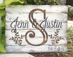 Welcome Sign Painted on Reclaimed Pallet Wood by SignsfromthePines
