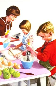 Cooking -  Helping At Home - Ladybird Books 1961