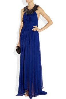 Jason WuEmbellished Silk chiffon gown.. better look from the back!!!