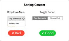 When to Use Toggle Buttons
