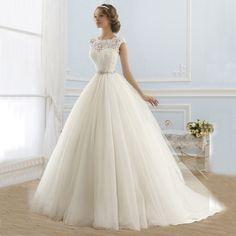 >> Click to Buy << 2016 Princess Wedding Dresses Jewel Applique Beaded Tulle Wedding Dresses Vestidos Novia #Affiliate