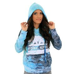 Great Sale Dolphin Shirt Co California Republic Bear Flag Silhouette V-Notch Hoodie Bahama Blue Medium California Republic, Bahama Blue, Silhouette, Winter Accessories, Hoodies, Sweatshirts, Medium, Pullover Sweaters, Flag