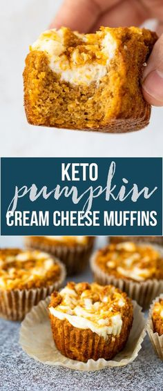 Low Carb Sweets, Low Carb Desserts, Dessert Recipes, Dinner Recipes, Pumpkin Cream Cheese Muffins, Pumpkin Cream Cheeses, Pumpkin Bread, Cheese Pumpkin, Pumpkin Spice