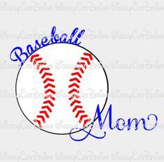 Baseball Mom SVG, DXF, EPS, PNG Digital File