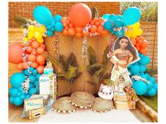 Tropical Party Decorations, Balloon Decorations Party, Balloon Garland, Party Themes, Balloon Ideas, Party Ideas, Moana Birthday Party Supplies, Tea Party Birthday, Birthday Ideas