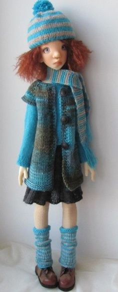 Hand Knit Doll Outfit Set for Kaye Wiggs SD BJD Tobi   eBay