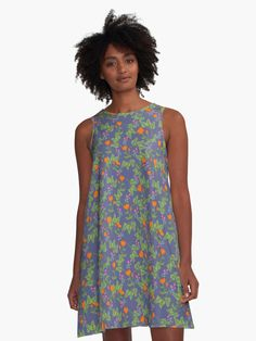 Trending Wildflowers patterns design dress. swing shape for an easy, flowy fit Sizes run large, so order a size down from your usual Print covers entire front and back panel with your chosen design, by an independent artist 97% polyester, 3% elastane woven dress fabric with silky handfeel Note that due to the production process, the placement of the print may vary slightly from the preview A-Line dresses are made in the USA Flower Power, Creepy, Daughter Of Smoke And Bone, Boho, Heavy Metal, Chiffon Tops, Floral, Pattern Design, Classic T Shirts