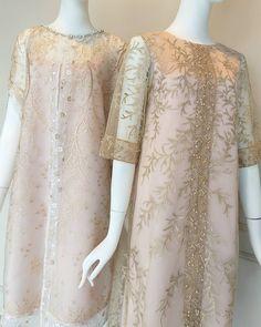 Image may contain: people standing Gaun Dress, Dress Brukat, Batik Dress, Model Dress Batik, Frock Fashion, Batik Fashion, Fashion Dresses, Evening Gowns With Sleeves, Evening Dresses