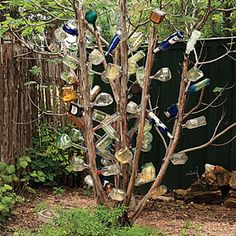 The Trinket Garden | The Tequila Bottle Tree | SouthernLiving.com