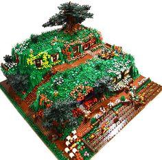 Hobbiton LEGO MOC (by David Frank)