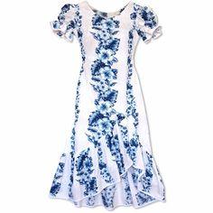 10579a63f4d0 hanalei white hawaiian makani dress Hawaiian Outfit Women Dresses, Hawaiian  Clothes, Hawaiian Muumuu,
