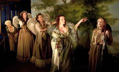 Susan Tracy, Fiona Hampton, Alexandra Gilbreath, Kirsty Besterman and Charlotts Happy Beaumont in Playhouse Creatures.