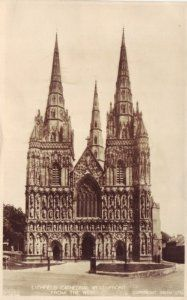 """6"""" x 4"""" Birthday Greetings Card English Church Staffordshire Lichfield Cathedral ST28 by Danetre Gifts. $3.49. Suitable for any occasion. PLEASE NOTE THAT MANY OF THE ENGLISH CHURCH IMAGES USED ARE SCANNED FROM OLD POSTCARDS. IMAGE QUALITY FROM THESE SCANS IS DECIDED BY THE IMAGE QUALITY OF THE ORIGINAL POSTCARD AND IN MANY CASES THE IMAGE QUALITY IS POOR BUT WE FEEL REFLECTS THE AGE THE PHOTOGRAPH WAS TAKEN IN ACCURATELY.. The card has a pleasing textured finish to..."""